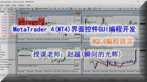 MT4界面控件GUI编程开发,19节完整培训课程
