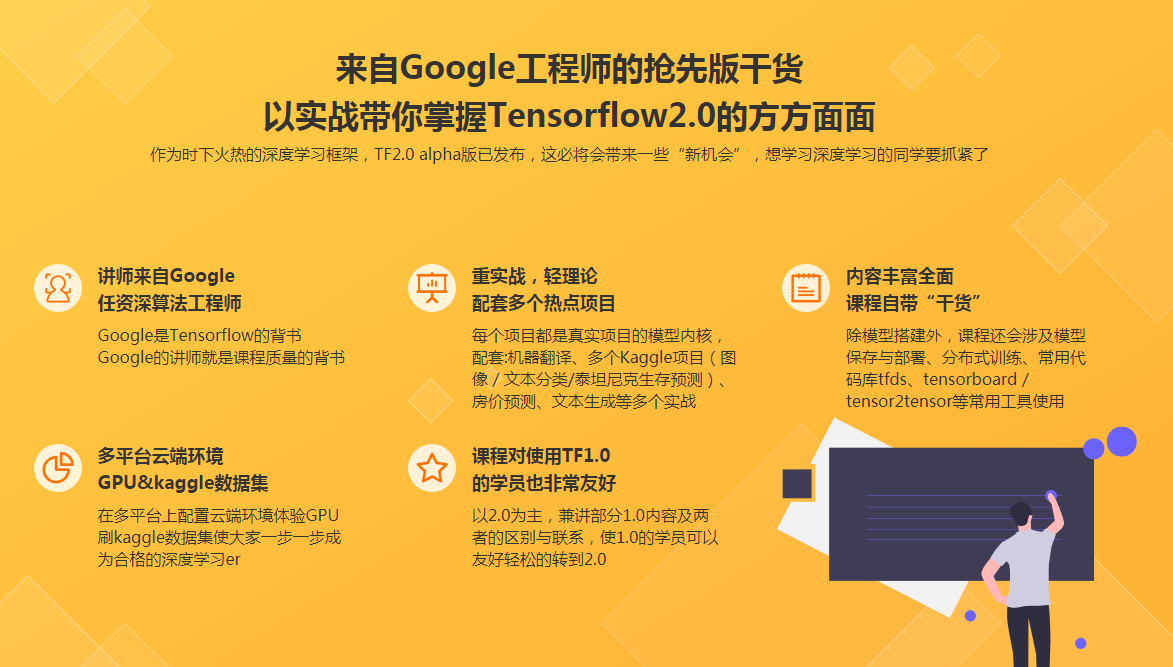 Google老师亲授 TensorFlow2.0 入门到进阶