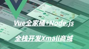 Vue全家桶+Node.js全栈开发Xmall商城视频课程