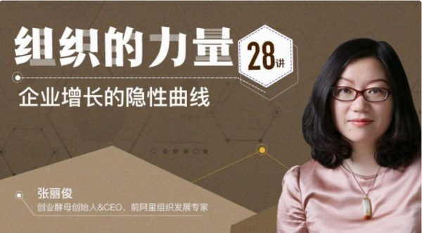 组织的力量28讲,张丽俊教你如何做企业管理