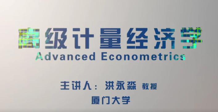厦门大学洪永淼教授 高级计量经济学完整版
