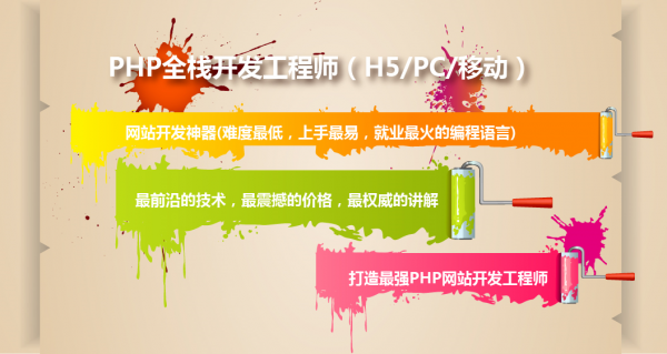 PHP全栈开发工程师(H5/PC/移动)