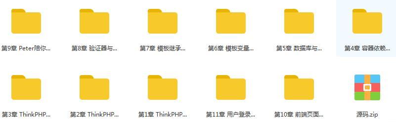 thinkphp 60天学会PHP,大牛线上培训班课目录