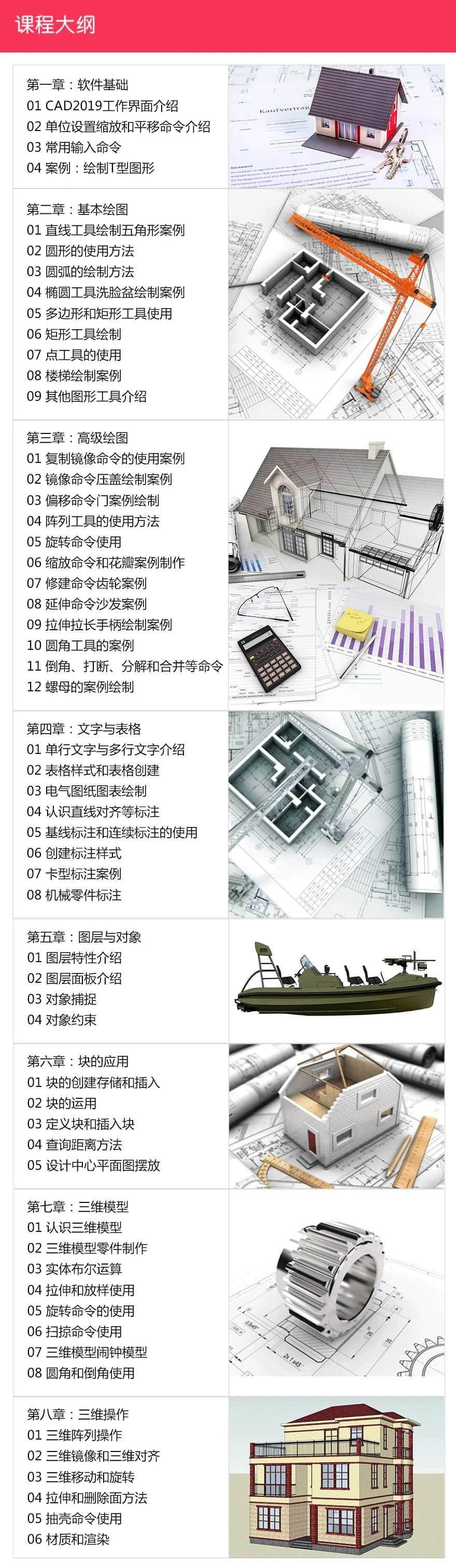 零基础学CAD2019案例教程2